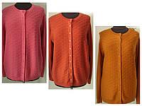 Кофта женская высокого качества, для холодной погоды, на пуговицах батал кашемир, 3 цвета р.50-56, код 4274М