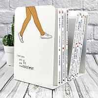 """Підставка для книг металева """"Ти класна"""", біла, Настольная подставка для книг """"Ты крутая"""""""
