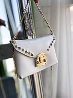Женская поясная сумка-клатч с длинной цепочкой Berlin белая