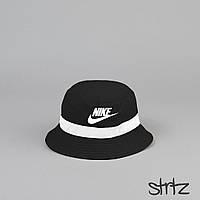 Новенькие Летние Черные Панамы Nike (Унисекс) Стильные Черные Пляжные Панамки Найк