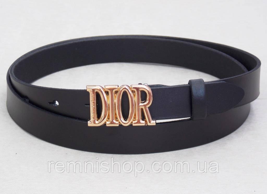 Женский кожаный узкий ремень Christian Dior