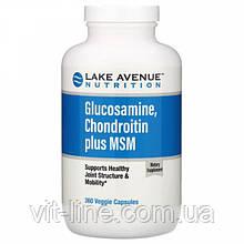 Lake Avenue Nutrition, Глюкозамин, хондроитин и МСМ, 360 вегетарианских капсул