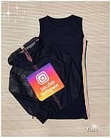 """Стильный костюм """"Instagram"""" для девочки платье с кроп-топом код 0073/1"""