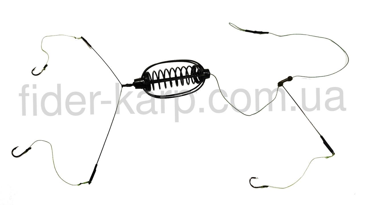Рыболовная кормушка Убийца карася в сборе «Арбуз» на стопорах , вес 30 грамм