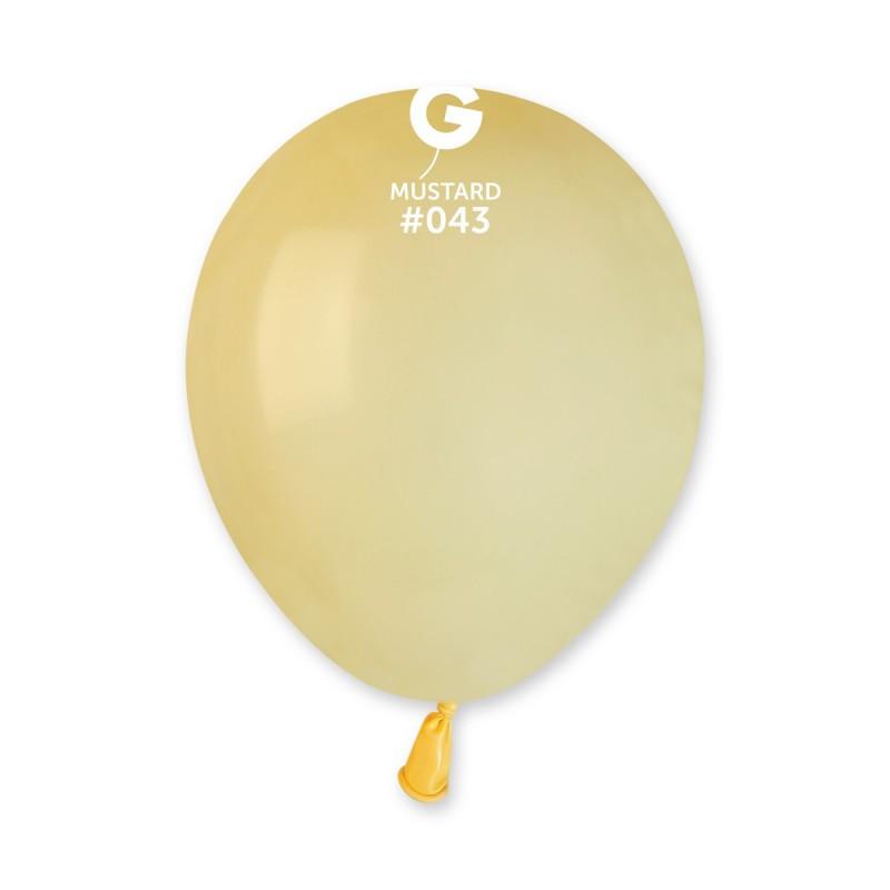 """Шар 5"""" (12 см) Gemar пастель 43 горчичный (Джемар)"""