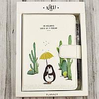 "Блокнот - планер і ручка ""Пінгвін"", Набор подарочный ""Пингвин"" блокнот и ручка, фото 2"