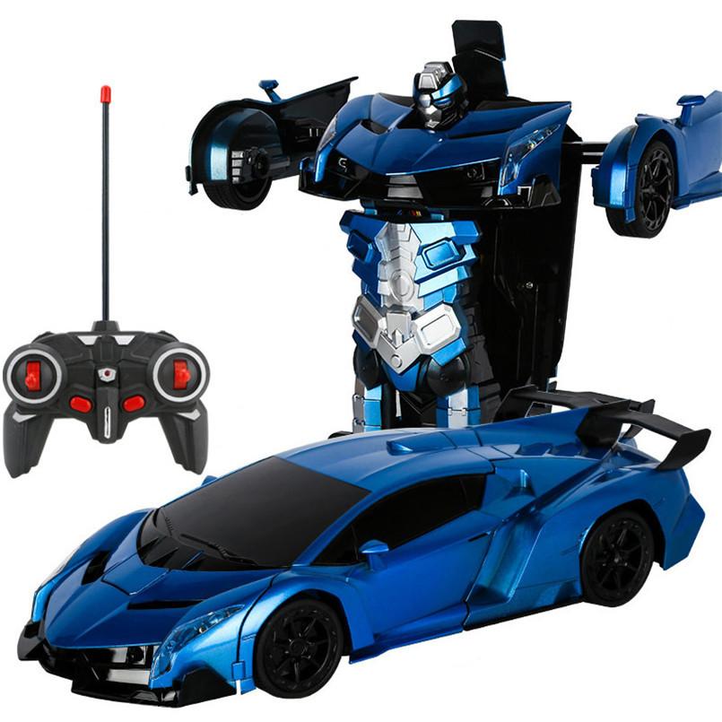 Трансформер машинка на управлении 2 в 1. Радиоуправляемая модель автомобиля. Ламборгини на пульте управления