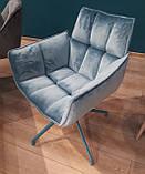 Кресло поворотное CHARDONNE (Шардоне) велюр бирюзовый Nicolas (бесплатная адресная доставка), фото 2