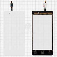 Сенсор для Fly IQ453 Quad Luminor FHD Оригинал Белый #1224TCM43E59V2.0 5415K FPC-1