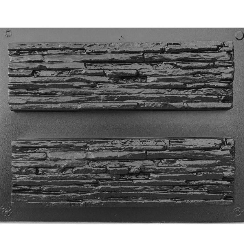 СЛАНЕЦ ТОНКОСЛОЙНЫЙ - комплект форм для искусственного камня; в 1 м²- 14,5 шт; пластиковые формы Венеция