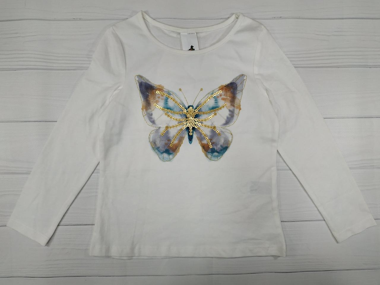 Реглан на девочку с бабочкой из пайеток C&A Германия Размер 104