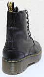Ботинки, мартинсы женские демисезонные кожаные от производителя модель НБ23Д, фото 5