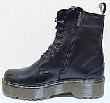 Ботинки, мартинсы женские демисезонные кожаные от производителя модель НБ23Д, фото 3