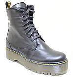 Ботинки, мартинсы женские демисезонные кожаные от производителя модель НБ23Д, фото 2