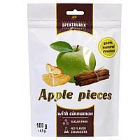 Яблучні скибочки сушені з корицею Apple Pieces, 100 г, фото 1