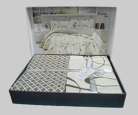 Комплект постельного белья First Choice Satin Calisto crem, фото 3