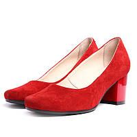 Туфли замшевые Villomi vm-513-17kr 36 Красные