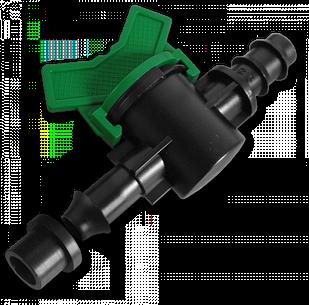 Старт-Коннектор для трубки с прокладкой и миникраном, DSWZ13-16L