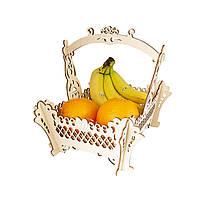 Подарочная корзина для цветов и фруктов