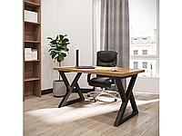 Обеденный стол Спай 160х85 Черный бархат/Бук мексиканский (Металл дизайн)