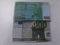 Купюра сувенирная 100 евро