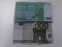 Купюра сувенирная 100 евро, фото 1