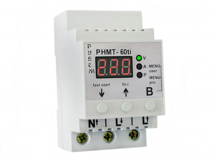 Реле контроля напряжения, тока и мощности в сети РУБЕЖ РНМТ-60ti
