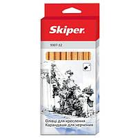 Набор карандашей SK чертежные шестигранные 12шт