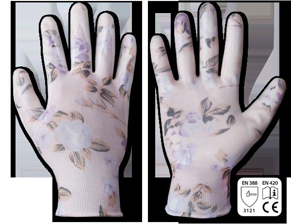 Перчатки защитные NITROX FLOWERS нитрил, размер 8, RWNF8