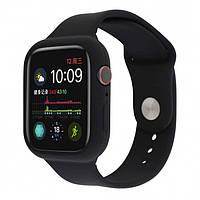 Силиконовый чехол-ремешок для Apple Watch 44/42мм Black