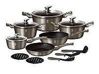 Набор посуды Berlinger Haus Carbon Metallic Line 15 предметов BH 1223N