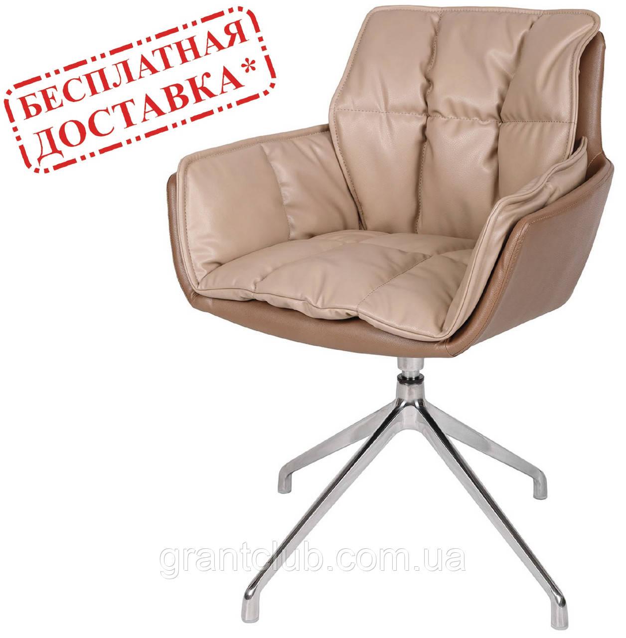 Кресло поворотное PALMA (Пальма) мокко/молочный шоколад кожзам Nicolas (бесплатная доставка)