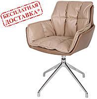 Кресло поворотное PALMA (Пальма) мокко/молочный шоколад кожзам Nicolas (бесплатная доставка), фото 1