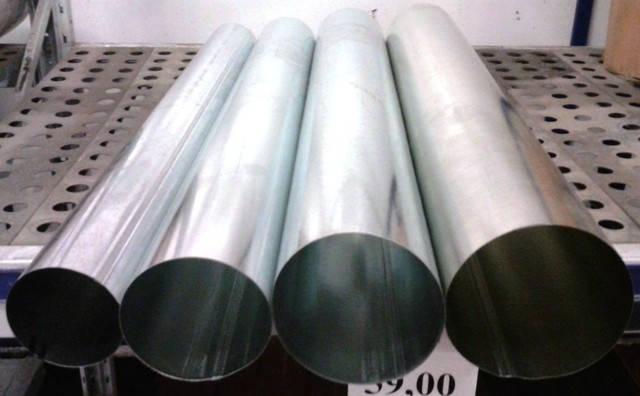Труба вентиляционная, дымоходная, оцинкованная ø110мм, фото 2