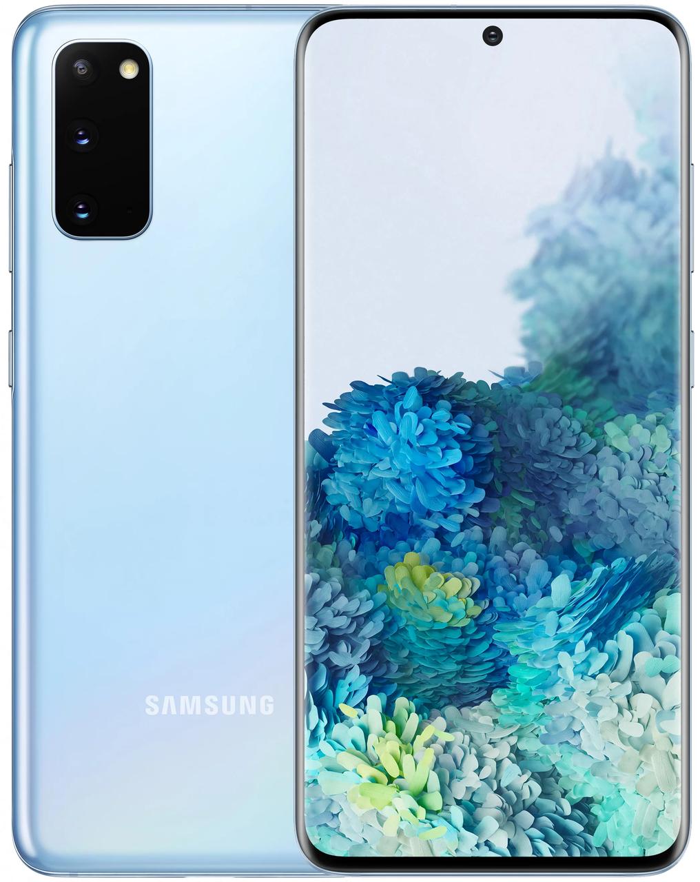 Смартфон Samsung Galaxy S20 2020 G981F 12/128Gb Cloud Blue (SM-G981FLBD)