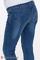 Удобные джинсы для беременных тёмно-голубые, размеры 42-50, фото 3