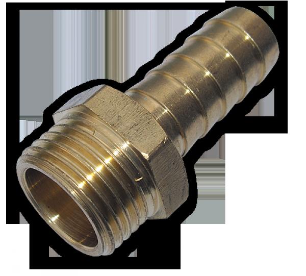 "GEKA Адаптер с ниппелем на шланг 25 мм, РН 1"" - латунь, GK78/4SK"
