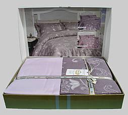 Комплект постельного белья First Choice Satin Carmina Leylak, фото 3