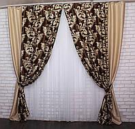 Комбіновані штори з ткани блекаут. Код: 014дк (143-101(А))