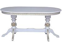 Стол обеденный Вильнев-2 белый + патина