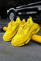 Кроссовки мужские весенние осенние качественные модные Balenciaga Triple S Yellow