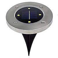 Уличные фонари на солнечной батарее Disk lights 4 штуки, фото 1