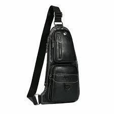Мужская сумка через плечо Jeep 777 (черная)