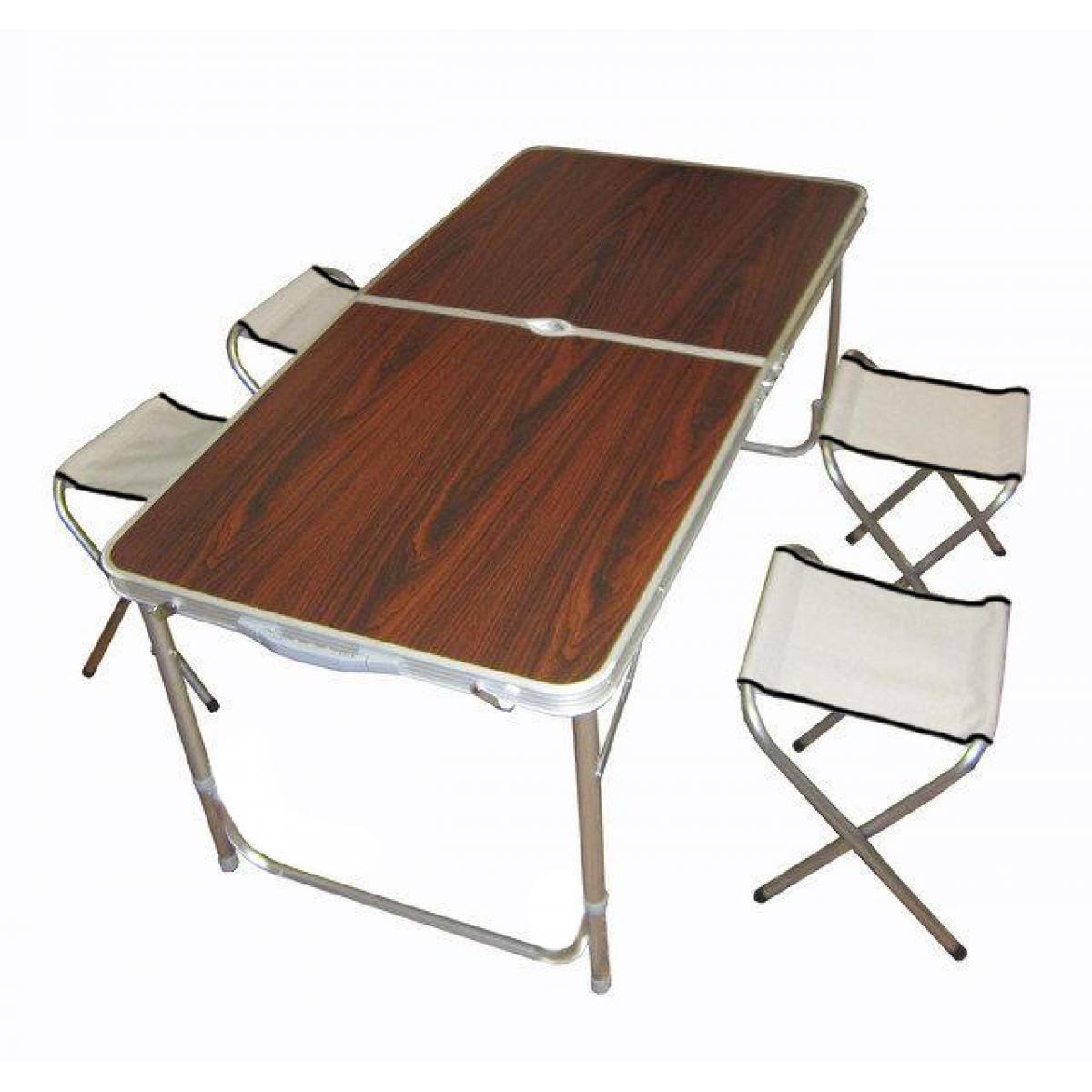 Туристический раскладной стол для пикника с четырьмя стульями