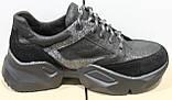 Кроссовки черные женские от производителя модель ДР100-1, фото 3