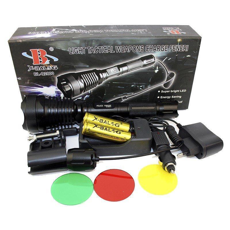 Мощный подствольный светодиодный фонарь POLICE BL-Q2800-T6 50000W