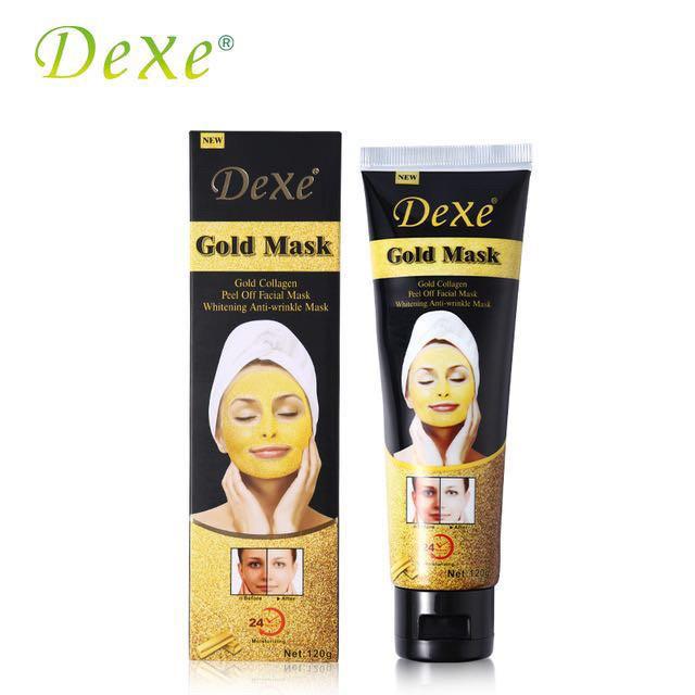 Омолаживающая косметическая маска с ионами золота Dexe Gold Mask