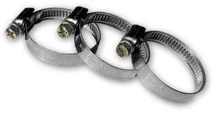 Хомут червячный нержавеющий RIO VERDE W2 10-16мм, RVW2 10-16/9
