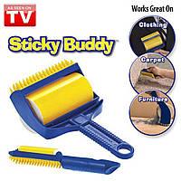 Силиконовый липкий валик для чистки одежды и уборки дома Sticky Buddy, фото 1