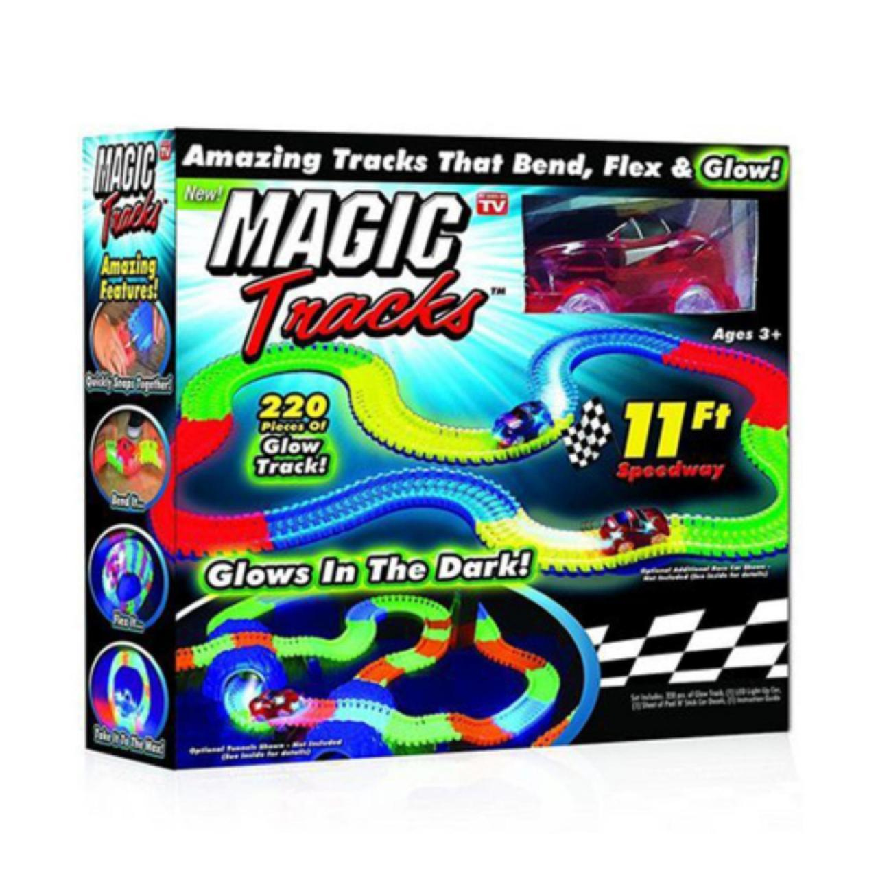 Светящийся, гнущийся автотрек Magic Tracks 220 деталей